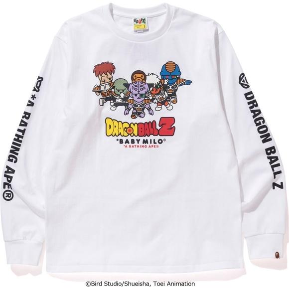 84c68b2b Bape Shirts | Dbz Ginyu Force Ls Tee White | Poshmark